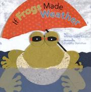 Book Cover for IF FROGS MADE WEATHER