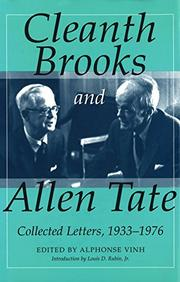 Cover art for CLEANTH BROOKS AND ALLEN TATE