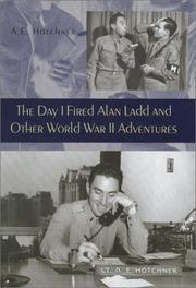 Cover art for THE DAY I FIRED ALAN LADD