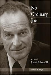 NO ORDINARY JOE by Daniel W. Pfaff