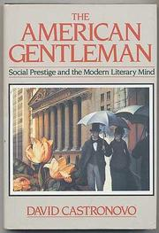 THE AMERICAN GENTLEMAN by David Castronovo