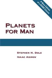 PLANETS FOR MAN by Stephen Dole