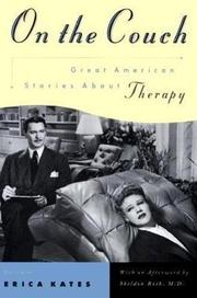 ON THE COUCH: Great American Stories About Therapy by Erica--Ed. Kates