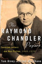 THE RAYMOND CHANDLER PAPERS by Tom Hiney