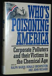 WHO'S POISONING AMERICA by Ronald Brownstein