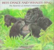 Book Cover for BEES DANCE AND WHALES SING
