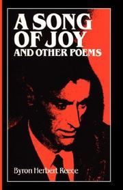 A SONG OF JOY And Other Poems by Byron Norbert Reece