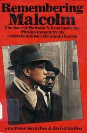 Cover art for REMEMBERING MALCOLM