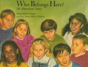 Cover art for WHO BELONGS HERE?
