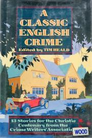 Cover art for A CLASSIC ENGLISH CRIME