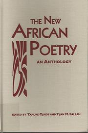 THE NEW AFRICAN POETRY by Tanure Ojaide