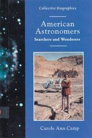 AMERICAN ASTRONOMERS by Carole Ann Camp