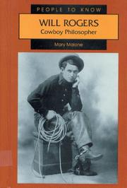 WILL ROGERS by Mary Malone