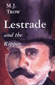 LESTRADE AND THE RIPPER by M.J. Trow