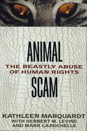 ANIMAL SCAM by Kathleen Marquardt