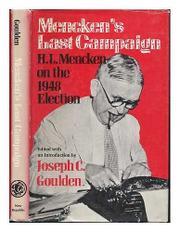 MENCKEN'S LAST CAMPAIGN by H.L. Mencken