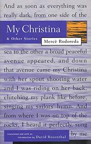 MY CHRISTINA AND OTHER STORIES by Merce Rodoreda