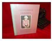 I REMEMBER GRANDPA by Truman Capote