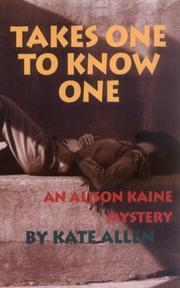 Book Cover for TAKES ONE TO KNOW ONE