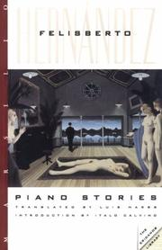 PIANO STORIES by Felisberto Hernandez