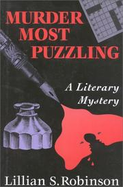 MURDER MOST PUZZLING by Lillian S. Robinson