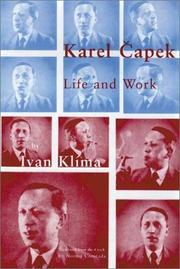Cover art for KAREL CAPEK: LIFE AND WORK