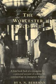 THE WORCESTER ACCOUNT by S. N. Behrman