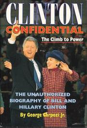 CLINTON CONFIDENTIAL by Jr. Carpozi
