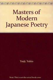 MASTERS OF MODERN JAPANESE POETRY by Yukio Tsuji