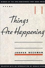 THINGS ARE HAPPENING by Joshua Beckman