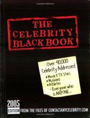 THE CELEBRITY BLACK BOOK, 2005 EDITION by Jordan McAuley