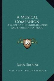 A MUSICAL COMPANION by John Erskine