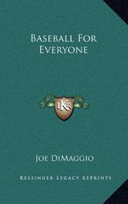 BASEBALL FOR EVERYONE by Joe DiMaggio
