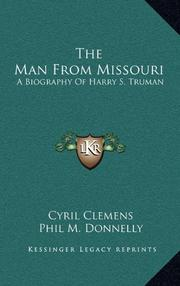 THE MAN FROM MISSOURI by Cyril Clemens