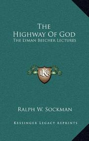 THE HIGHWAY OF GOD by R. W. Sockman
