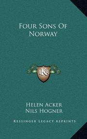 FOUR SONS OF NORWAY by Helen Acker