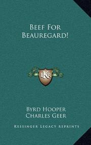 BEEF FOR BEAUREGARD! by Byrd Hooper