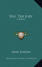 YOU, THE JURY by Mary Borden