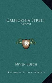 CALIFORNIA STREET by Niven Busch