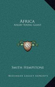 AFRICA -- ANGRY YOUNG GIANT by Smith Hempstone