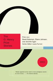 Cover art for THE O. HENRY PRIZE STORIES 2003