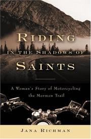 RIDING IN THE SHADOWS OF SAINTS by Jana Richman