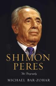 SHIMON PERES by Michael Bar-Zohar
