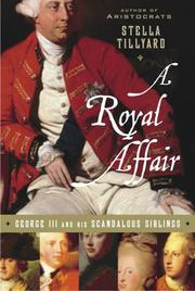 A ROYAL AFFAIR by Stella Tillyard