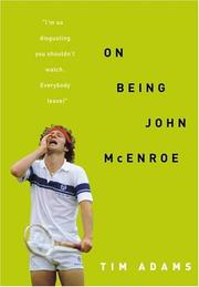 Book Cover for ON BEING JOHN MCENROE