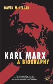 KARL MARX by David McLellan