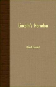 LINCOLN'S HERNDON by David Donald