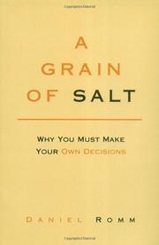 A GRAIN OF SALT by Daniel Romm