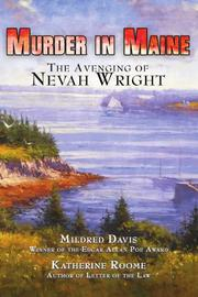 MURDER IN MAINE by Mildred and Katherine Roome Davis