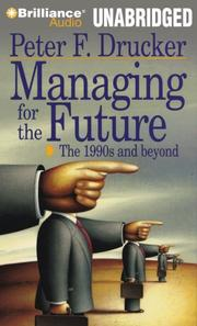 Cover art for MANAGING FOR THE FUTURE